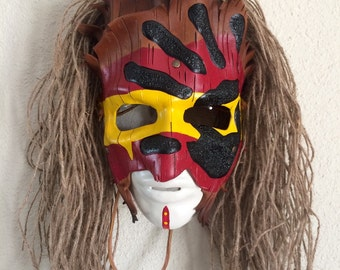 Shamanistic war face Leather mask