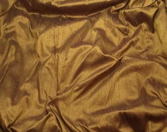 DEEP BRONZE Silk DUPIONI Fabric - 1 Yard