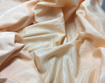 Peach  Rayon/Acetate Moire Faille Fabric - 1/3 yard remnant