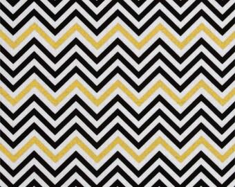 Remix Metallic Small Chevron Ebony Kaufman - Cotton Quilting Fabric  - fat 1/4 remnant