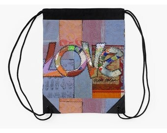 Cinch Bag,Festival Bag,Boho Bag,Drawstring Backpack,Unique Back to School Supplies,Christmas Gifts for Students,Off to College Gifts