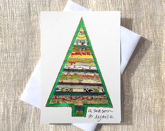 Greeting Card for Merry Christmas,Greeting Christmas Cards,Greeting Cards for Xmas,Handmade Holiday Cards,Handmade Christmas Tree Cards