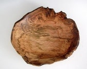 Small Natural Edge Maple Burl Wood Turned  Bowl or Platter - Housewarming Gift- Wedding Gift- Gifts for Him - Gifts for Her