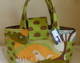 Large Hide and Seek Hedgehog Diaper Bag Tote