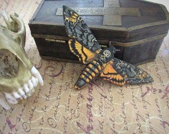 Death's Head Moth Brooch