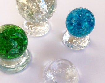 1 Glass Marble Stand Holds 25 - 40mm Glass Marbles Display Art