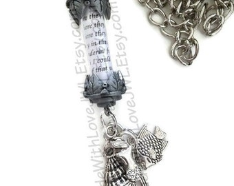 Part Of Your World Lyrics In A Bottle Necklace