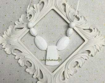 Teething Necklace, Food Grade Silicone, Handmade
