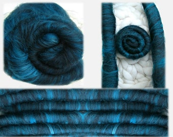 The Tarot Series: Death, Your Choice of Batts or Rolag-Style Punis for Spinning, Felting