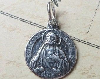 St Roch / Rocco Medal - Patron of dogs and dog lovers - Antique Reproduction