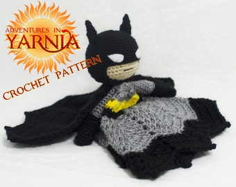 Batman Lovey Crochet Pattern, INSTANT DOWNLOAD, superhero security blanket