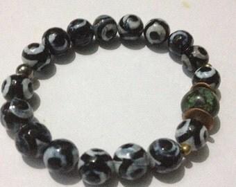 ON SALE Raksha Dze Protection Yoga Bracelet Mala