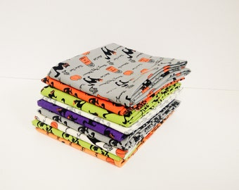 Cats and Stripes FQ Bundle of Spooky Delights by Bunny Hill - 9 FQ's