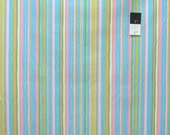 Dena Designs PWDF185 Tiddlywinks Stripe Blue Cotton Fabric 1 Yard
