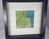 West Virginia- abstract art map of West Virginia