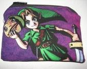 Legend of Zelda nintendo cartoon game handmade zipper fabric coin change purse card holder