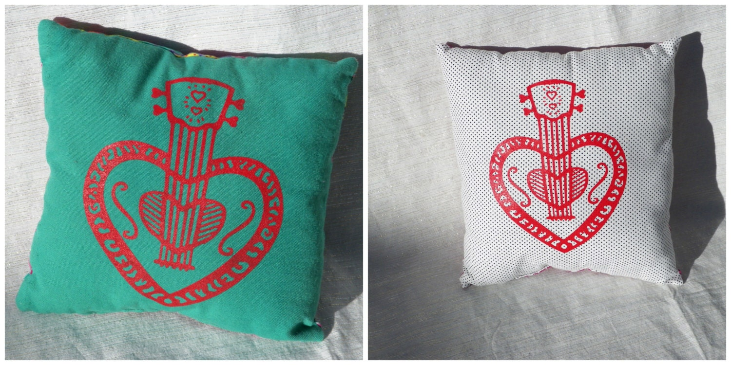 decorative small pillow for folk music fans by
