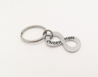 Personalized Infinity Keychain - Gift - Cheer Mom - Wedding Gift - Infinity - To infinity and beyond -  Couples keychains - Mom gift