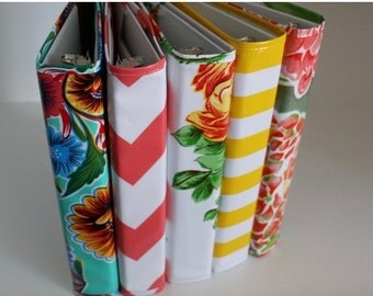 BINDER COVER SALE a5 planner - binder cover - planner binder - a5 binder cover - oilcloth recipe binder - 3 ring binder - birthday gift - gi