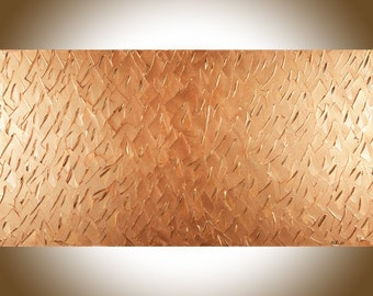 Sale - Copper art copper home decor wall decor Copper wall art  large canvas art wall hanging acrylic painting office decor by qiqigallery