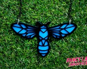 Black Flower Wasp Necklace