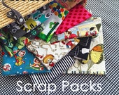 """SALE Scrap Pack - Designer Cotton Quilting Fabric, zeetzeet fabrics. You Choose the amount. Pick a theme or Color Story. Length is 4"""" to 18"""""""