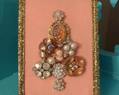 For Sheri 1 Vintage Style Framed Jewelry Christmas Tree Ornaments