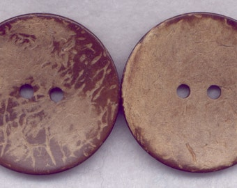 Brown Coconut Wood Buttons Wooden Buttons 42mm (1 3/4 inch) Set of 2/BT528