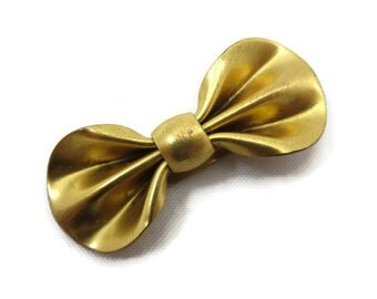 Art Deco Dress Clip - Vintage Gold Bow