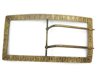Extra Large Antique Buckle - Victorian, Edwardian Sash Dress Buckle