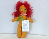 STRESS RELIEF DOLL Slam-It Wham-It Dang-It Dammit Wild Red Hair