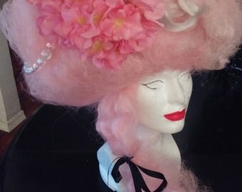 Custome Marie Antoinette Pink Wig With Bubbles Flowers shipping for nielle