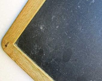 Antique Chalk Board,  Wood Bound School Slate, Vintage Chalk Board, Original Slate Chalk Board, Message Board, Event Board