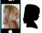 Custom Silhouette portrait : (left & right of one child) from pictures