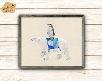 Polar Bear with Penguin