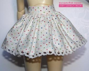 harajukudoll short skirt msd size crochet edges