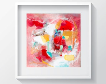 Wall art abstract painting print nº 10, watercolor print, Fine art, abstract art print, Watercolour original made by me