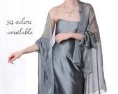 Promo Sale Evening Silk Chiffon Stole/ Wrap/ Shawl. 34 colors available