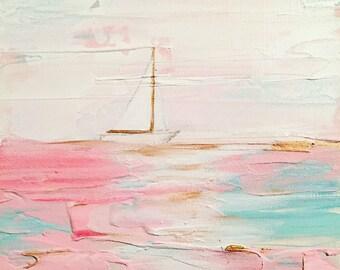 If I Had A Boat Orginal Acrylic Painting