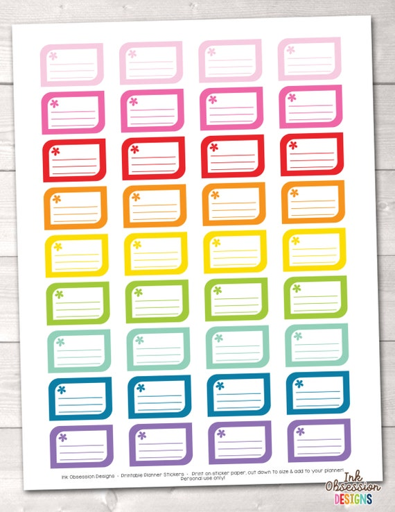 Calendar Planner Reminder Stickers : Printable planner stickers reminder or appointment boxes