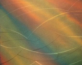 Kimono Silk Blended Stripes