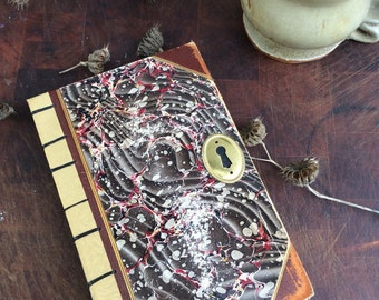 Antique book journal with blank pages