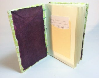 Small library card guest book /perfect for baby showers / wedding guest book