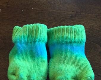 Blue and Green Stripe Socks