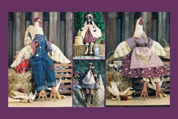Mailed Cloth Doll Pattern Collection of Beautiful Barnyard Animals