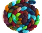 Finn Wool Roving - Hand Painted Spinning or Felting Fiber, Forthright