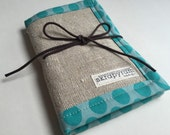 Linen Needle Book - Sewing Needle Case - Embroidery Needle Holder
