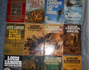 Lot of 12 Vintage Louis L'Amour SC Books