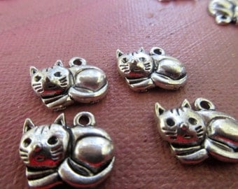 Kitty Charms,  Laying Kitty,  6 Charms, Kitty Lovers,   Bracelets,     One Dollar Market