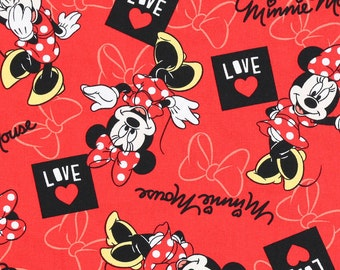 Minnie Mouse Love Fabric By The Yard FBTY 1 yard